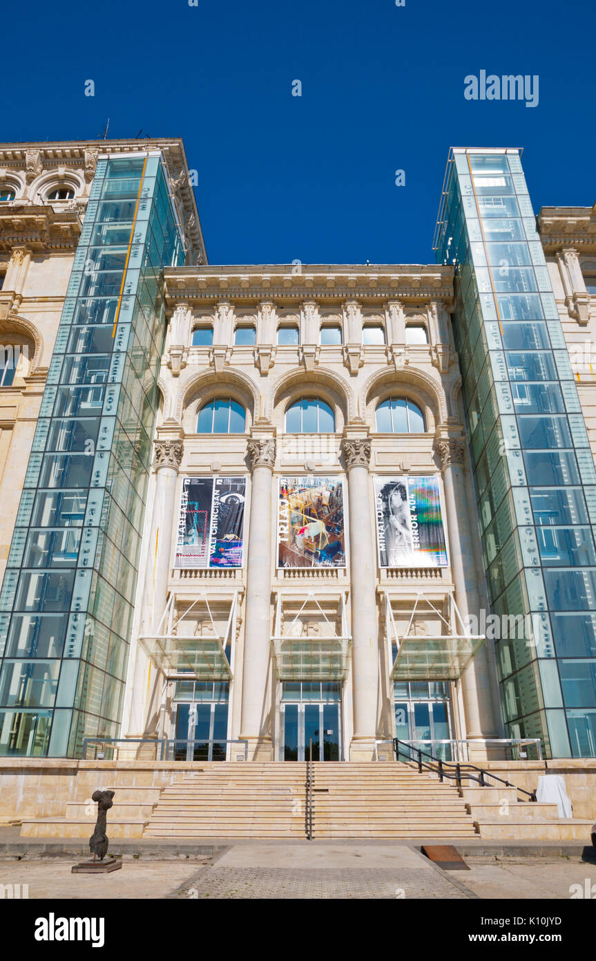 MNAC, museum of contemporary art, Palace of Parliament, Bucharest, Romania - Stock Image