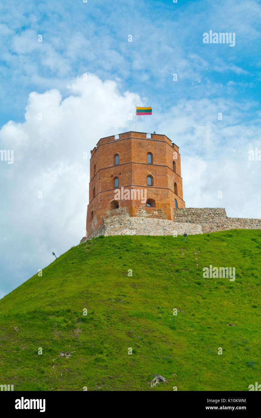 Gediminas' Tower of the Upper Castle, Gedanimnas hill, Vilnius, Lithuania - Stock Image