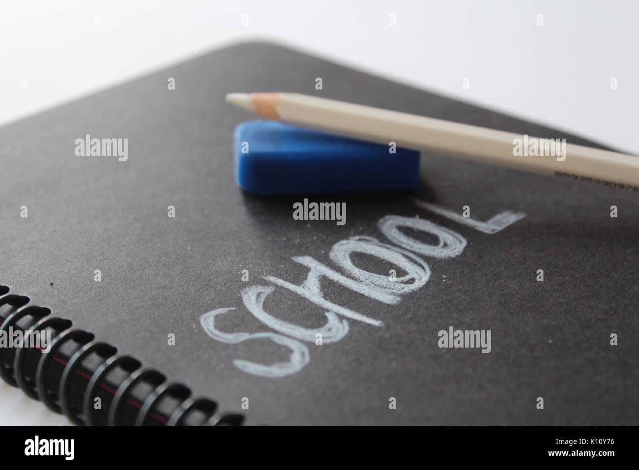 school pen notebook Stock Photo