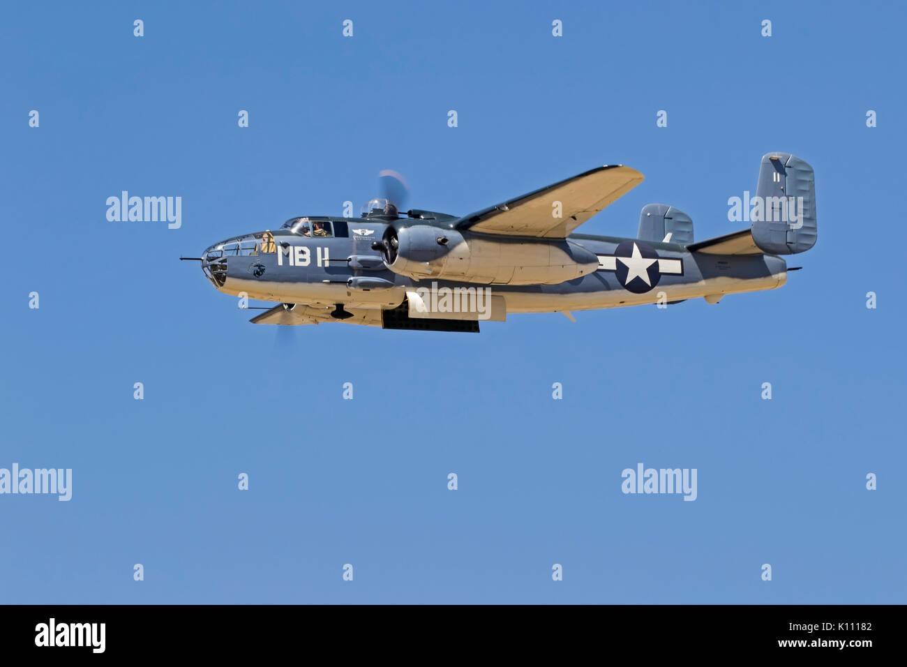 Airplane Marine PBJ version B-25 Mitchell Stock Photo