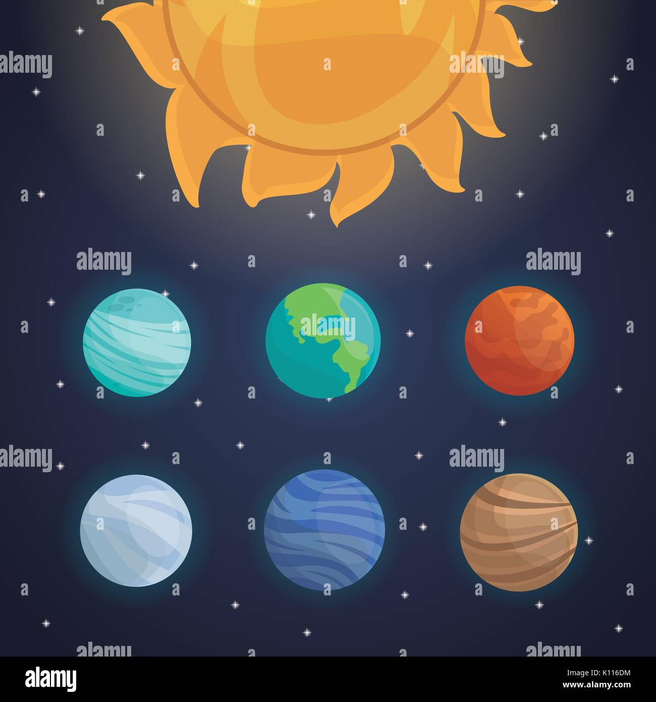 solar system planets stock vector images alamy