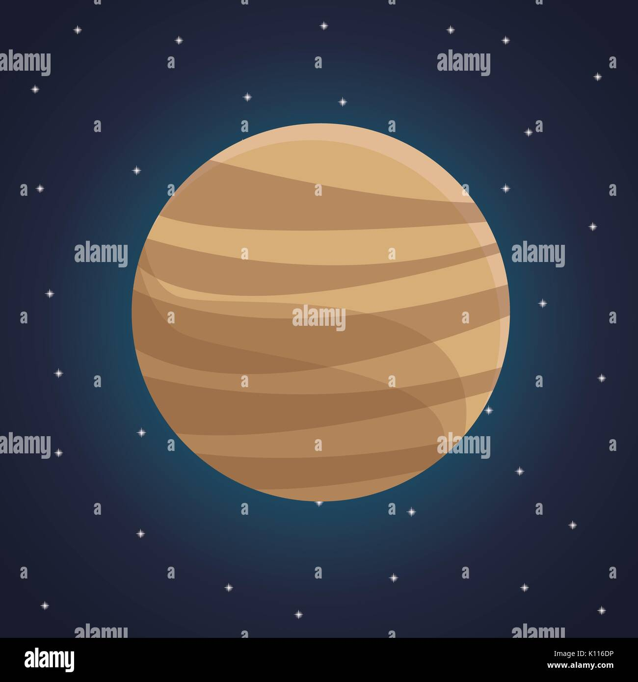 color space landscape background with view venus planet - Stock Image