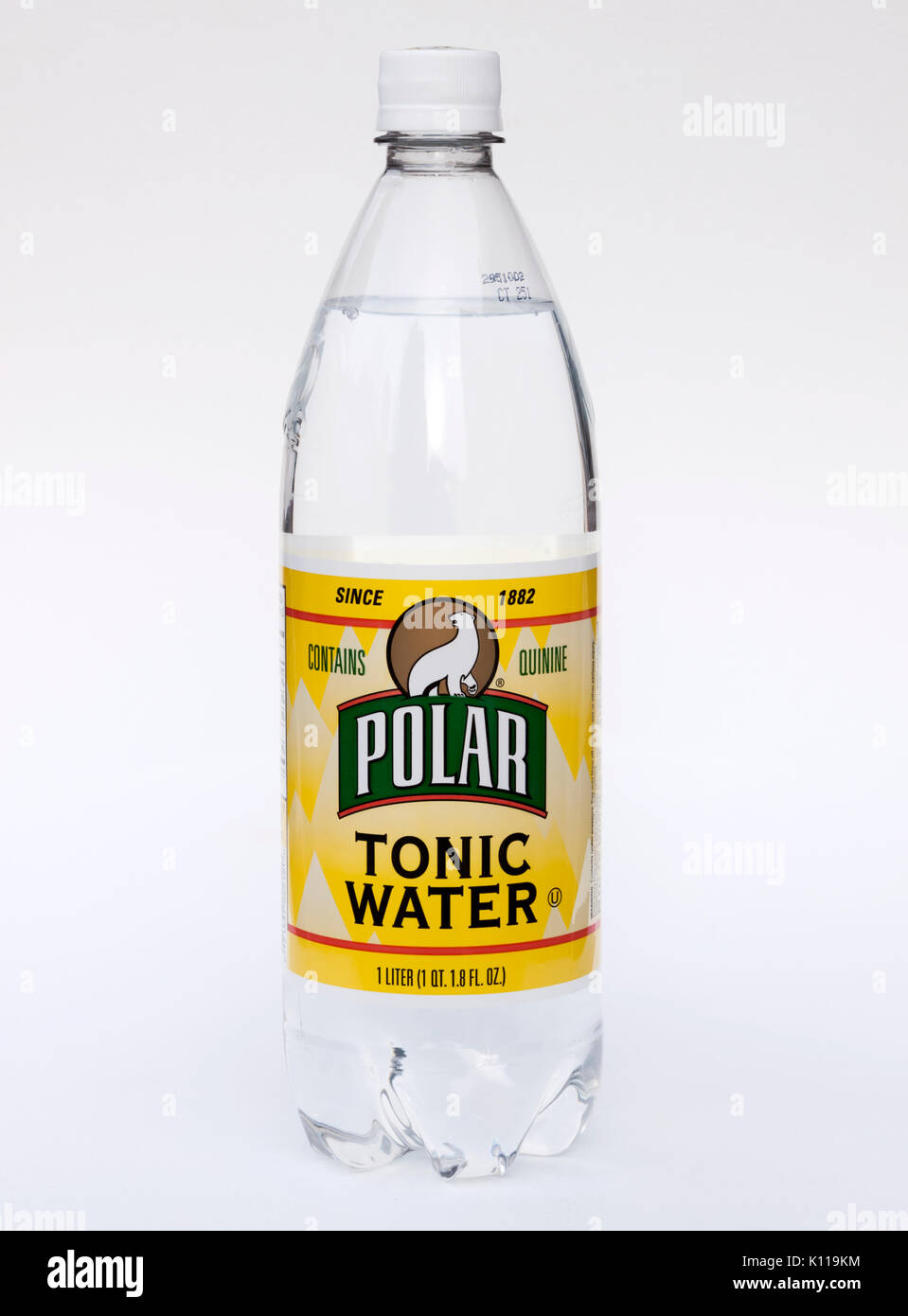 Bottle of Polar Tonic Water  Contains quinine which helps