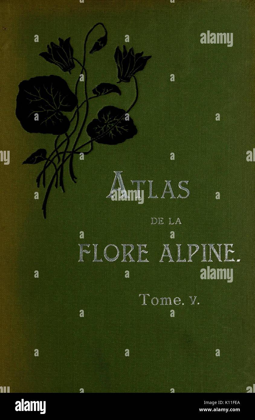 Atlas de la flora alpine BHL10388625 Stock Photo