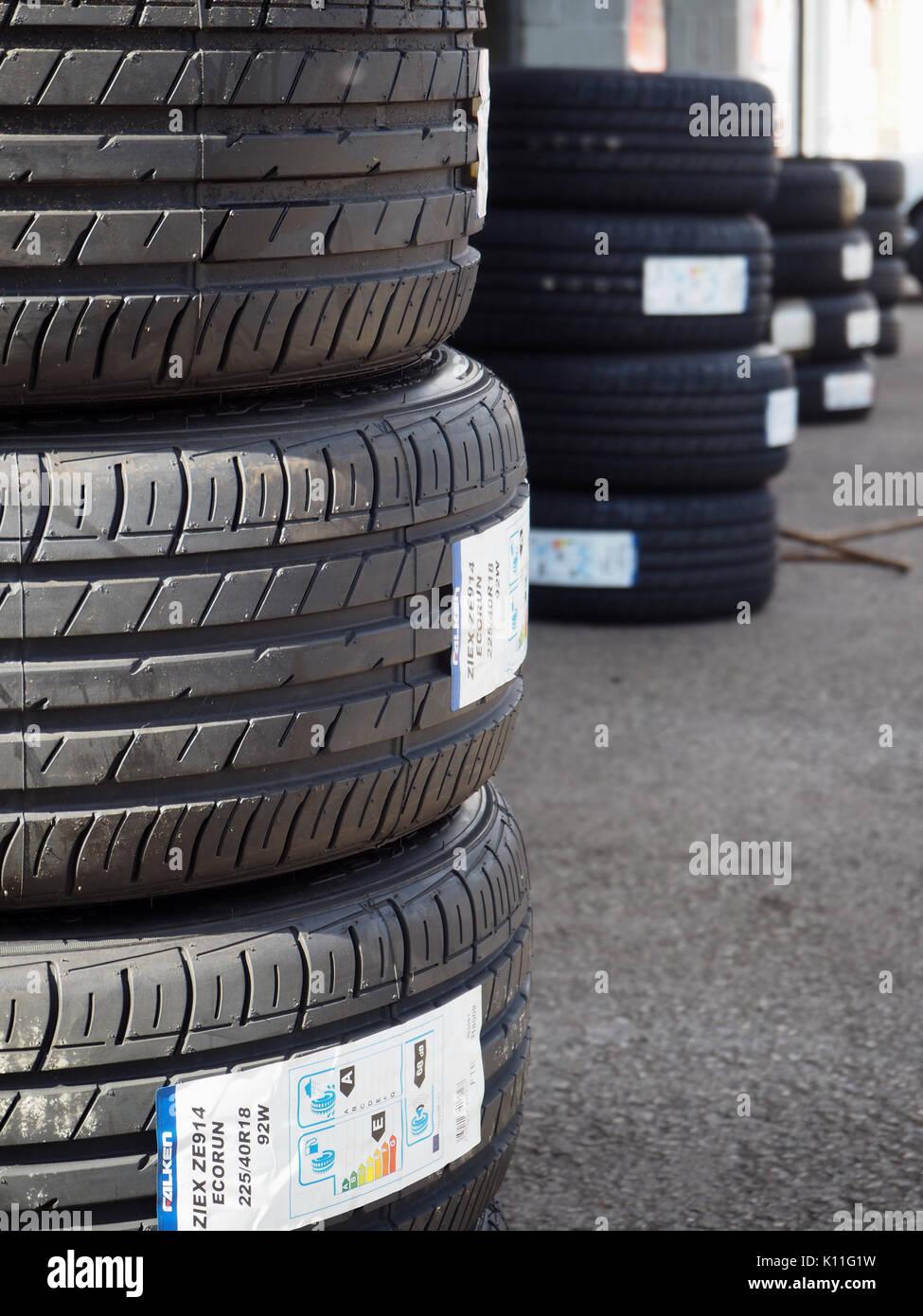 New road tyre's - Stock Image