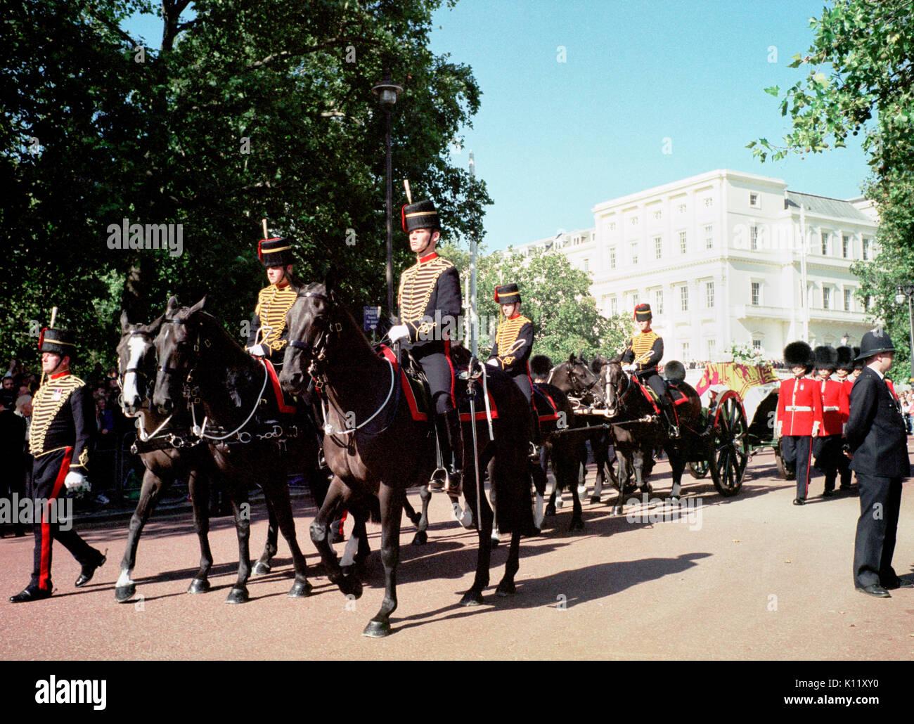 London Uk 6th September 1997 Funeral Of Diana Princess Of