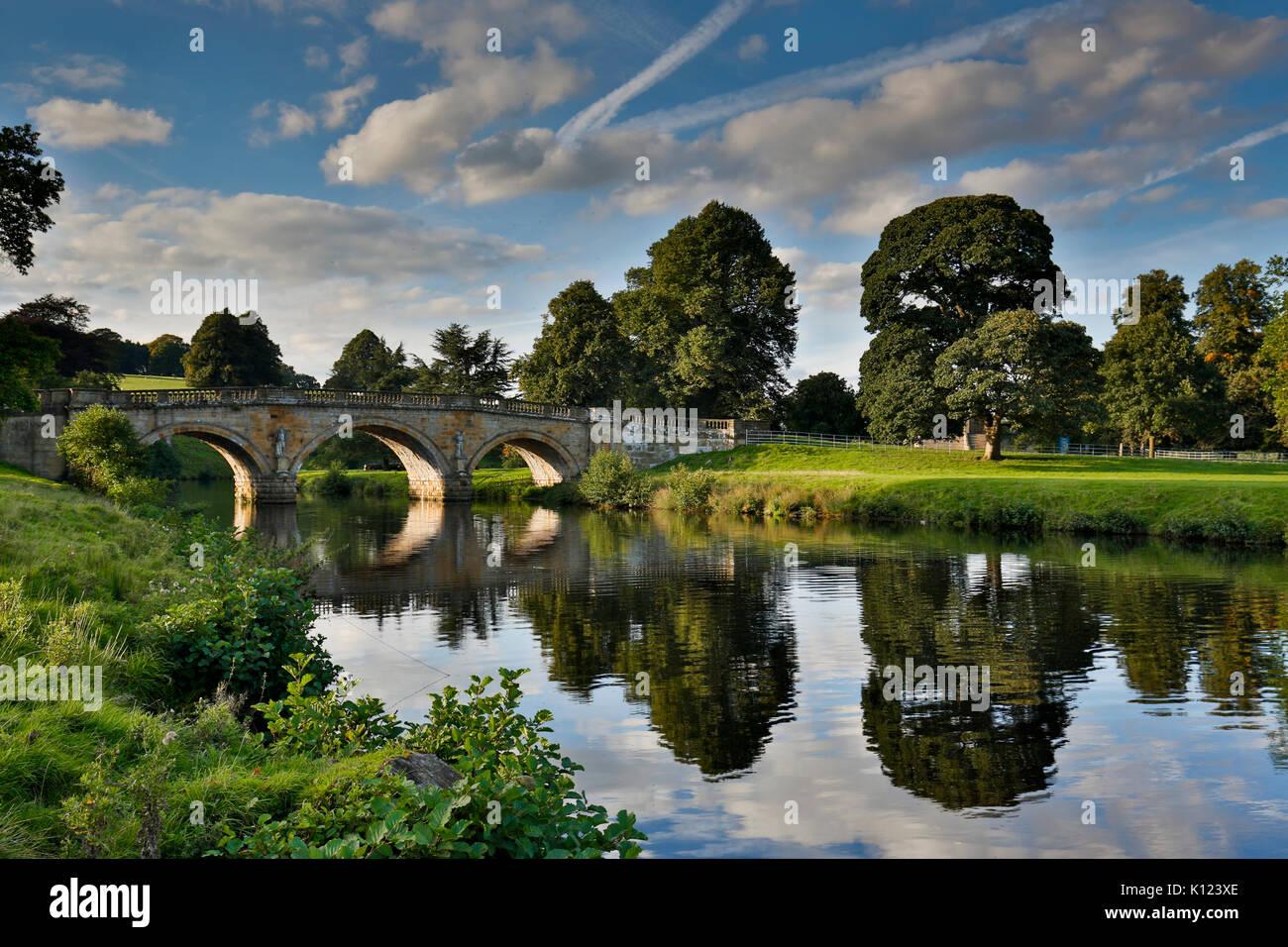 Chatsworth; Bridge; Derbyshire; UK - Stock Image