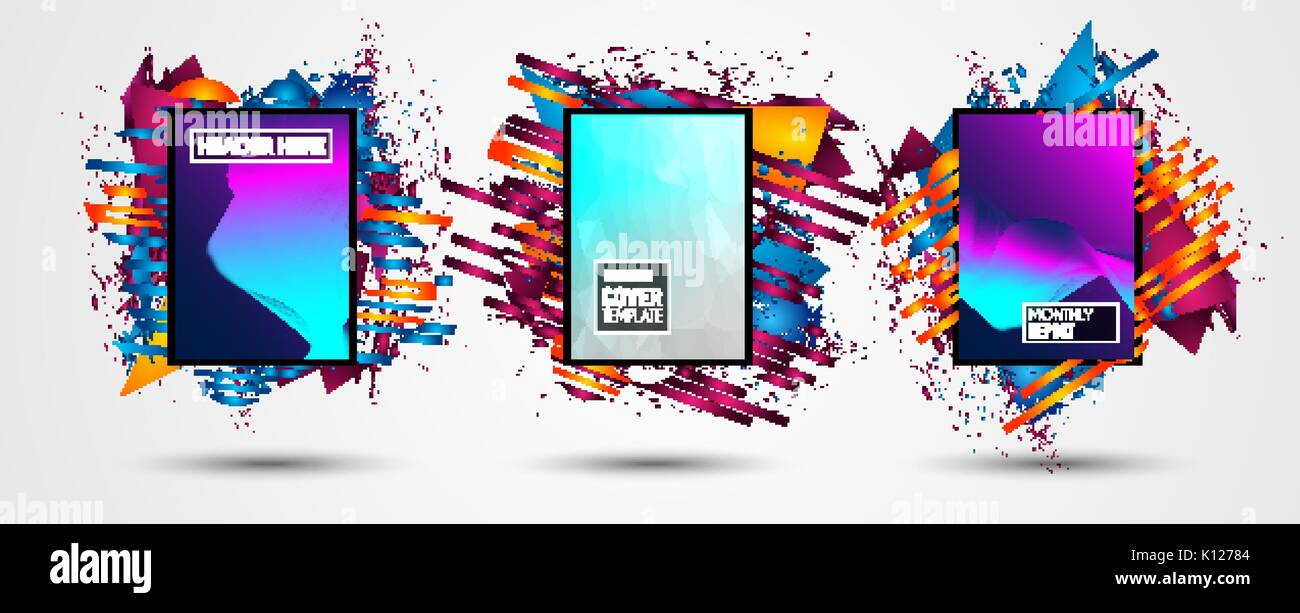 Futuristic Frame Art Design With Abstract Shapes And Drops