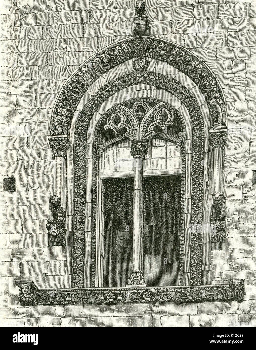 Altamura finestrone della cattedrale incisore anonimo 1898 - Stock Image