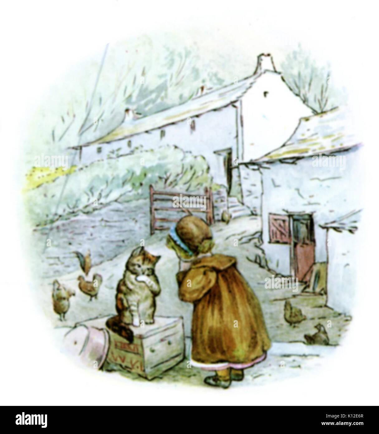 Beatrix Potter, Mrs Tiggy Winkle, Little Town - Stock Image