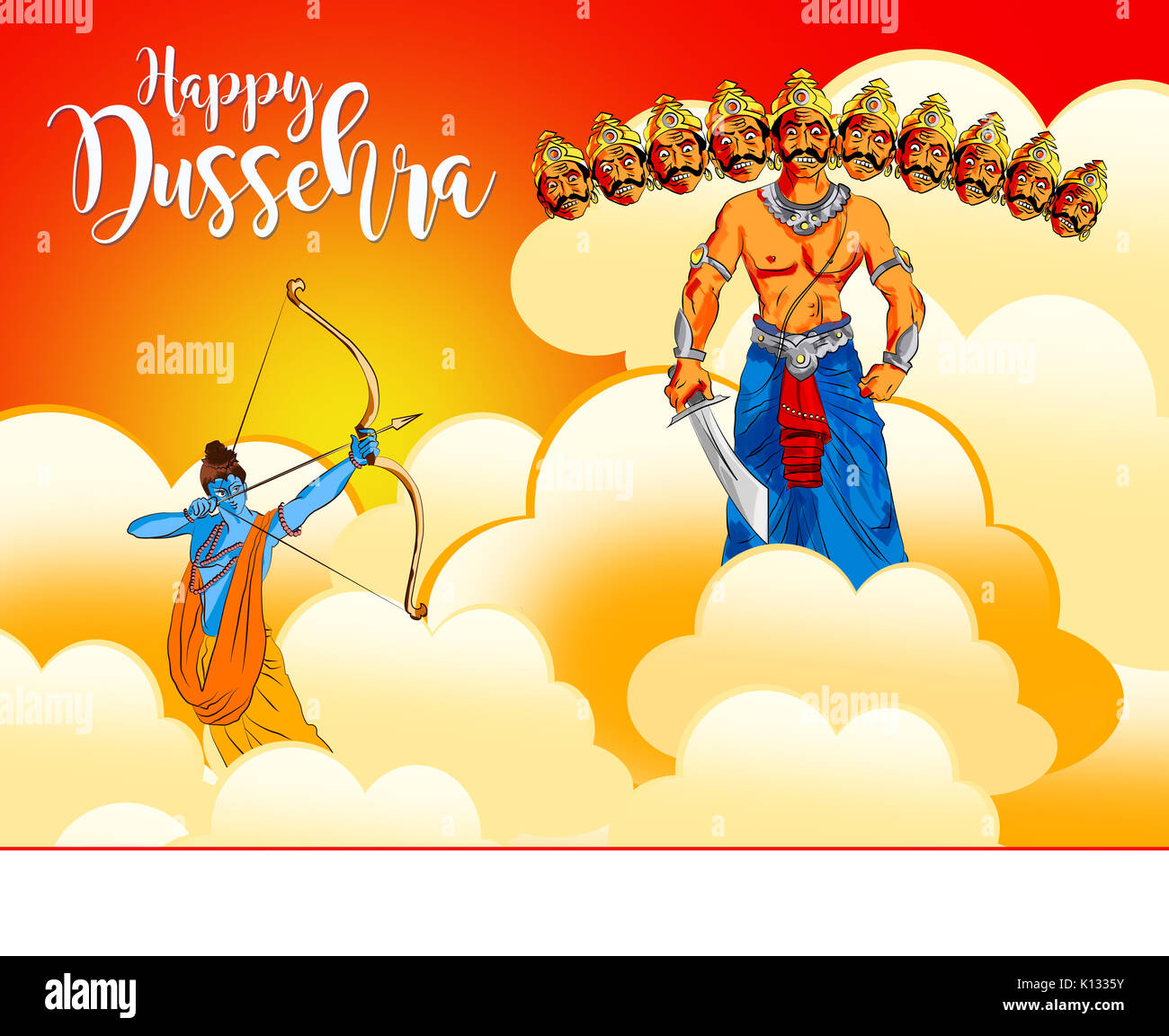 Antique stock illustration of happy dussehra greeting card happy antique stock illustration of happy dussehra greeting card happy vijayadashmi or navaratri important hindu festival in india showing illustration m4hsunfo