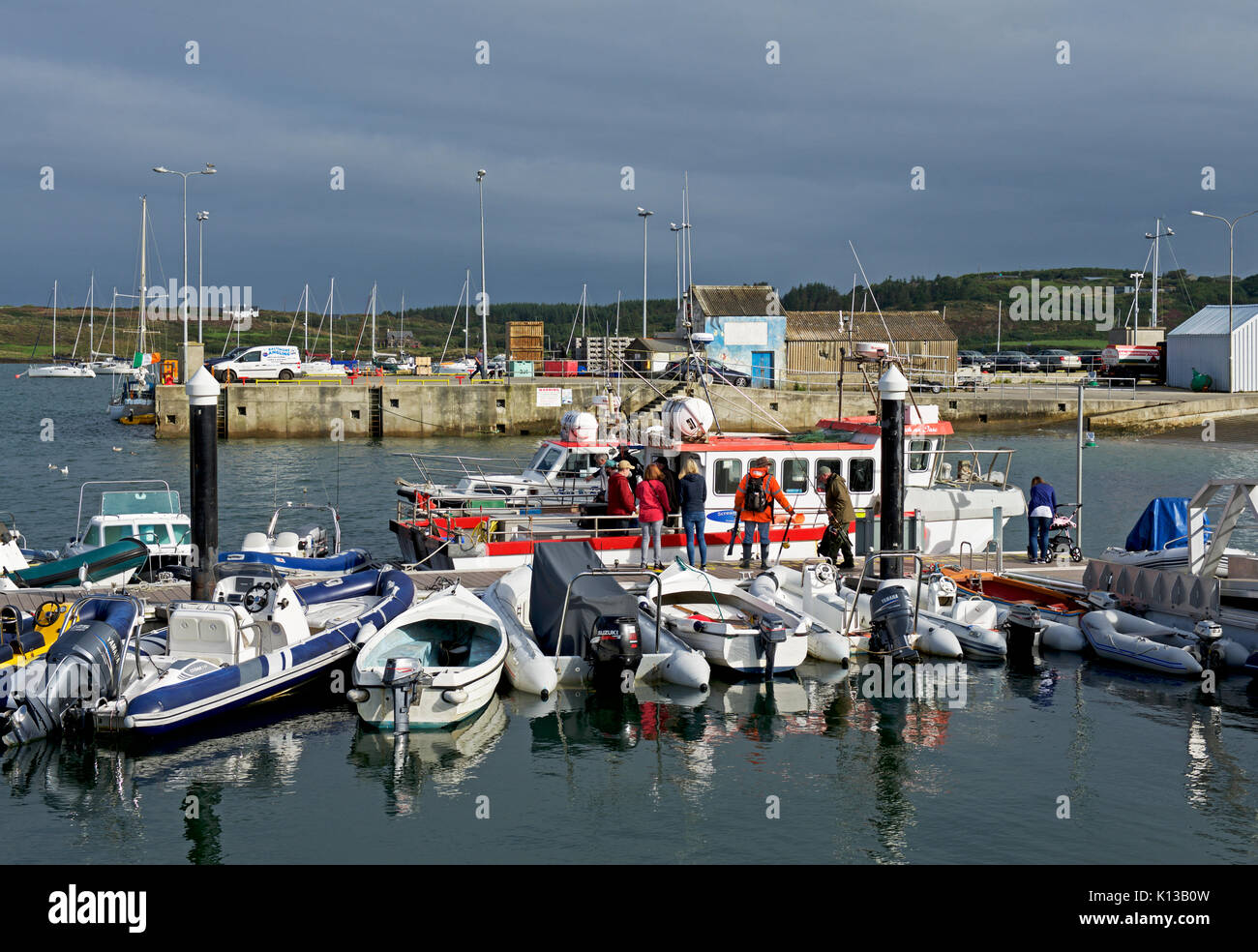 The harbour, Baltimore, County Cork, Eire, Southern Ireland - Stock Image