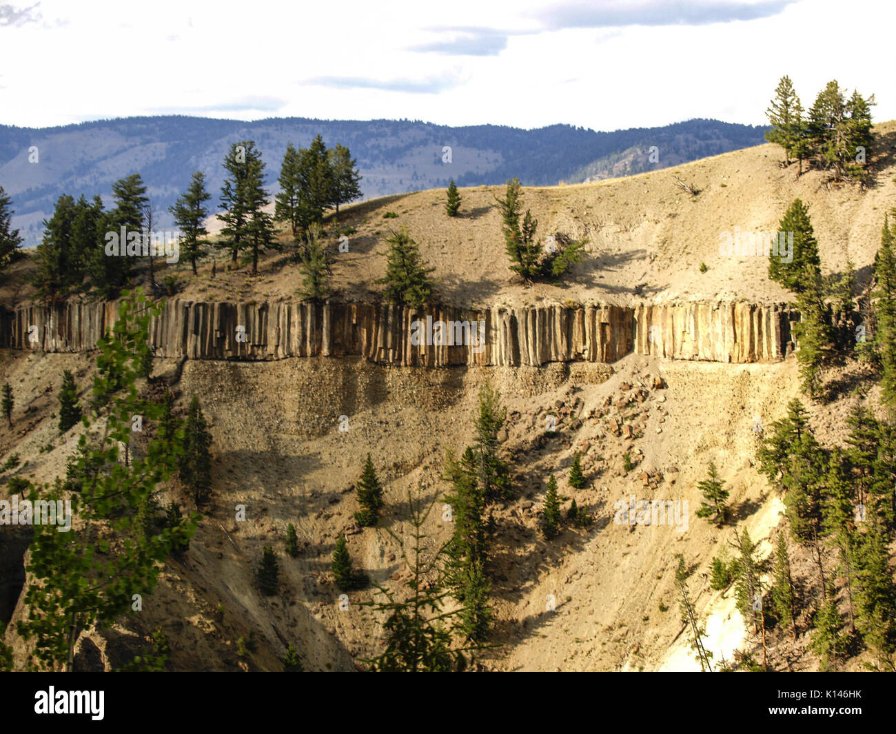 An Igneous Sill Intrusion in Yellowstone National Park Wyoming USA - Stock Image