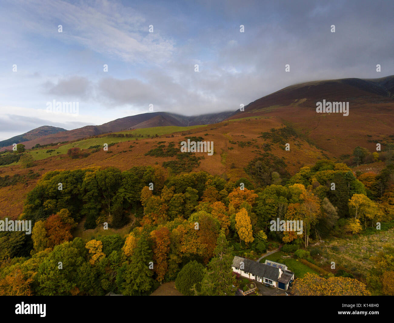 Skiddaw by drone - Stock Image