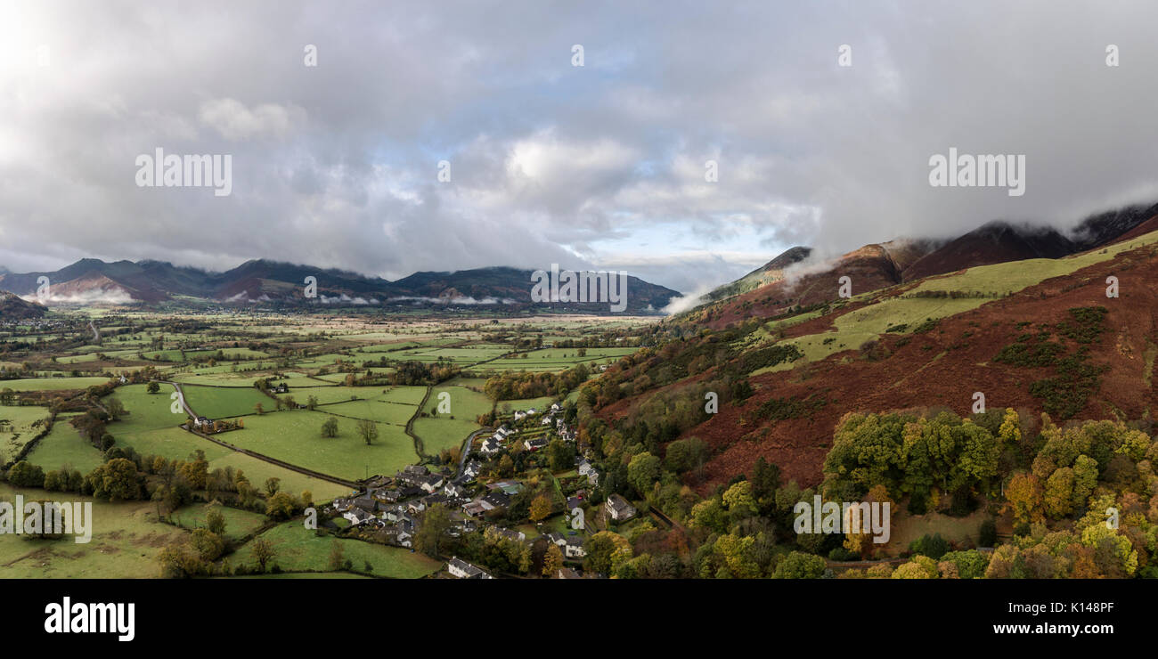 Clouds over Applethwaite - Stock Image