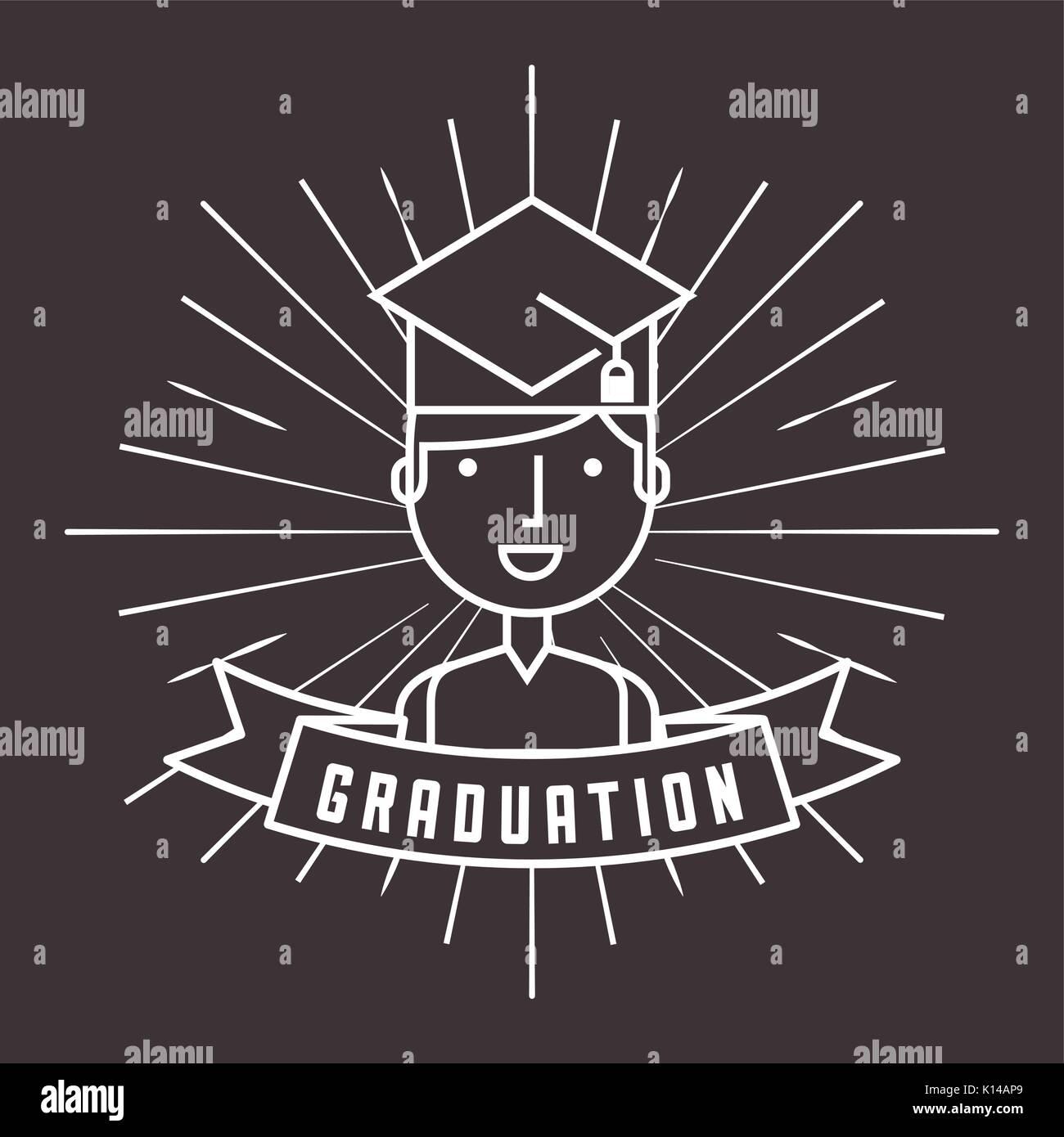 graduation celebration design  - Stock Image