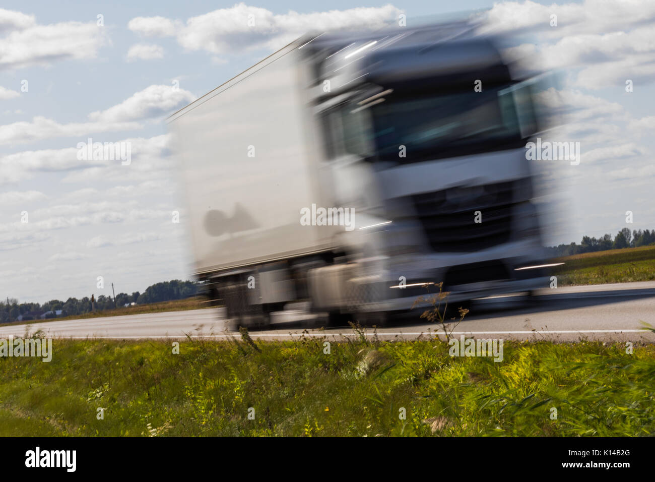 Truck Transport On The Road With Motion Blur Blurred Image Background Colorful Wallpaper