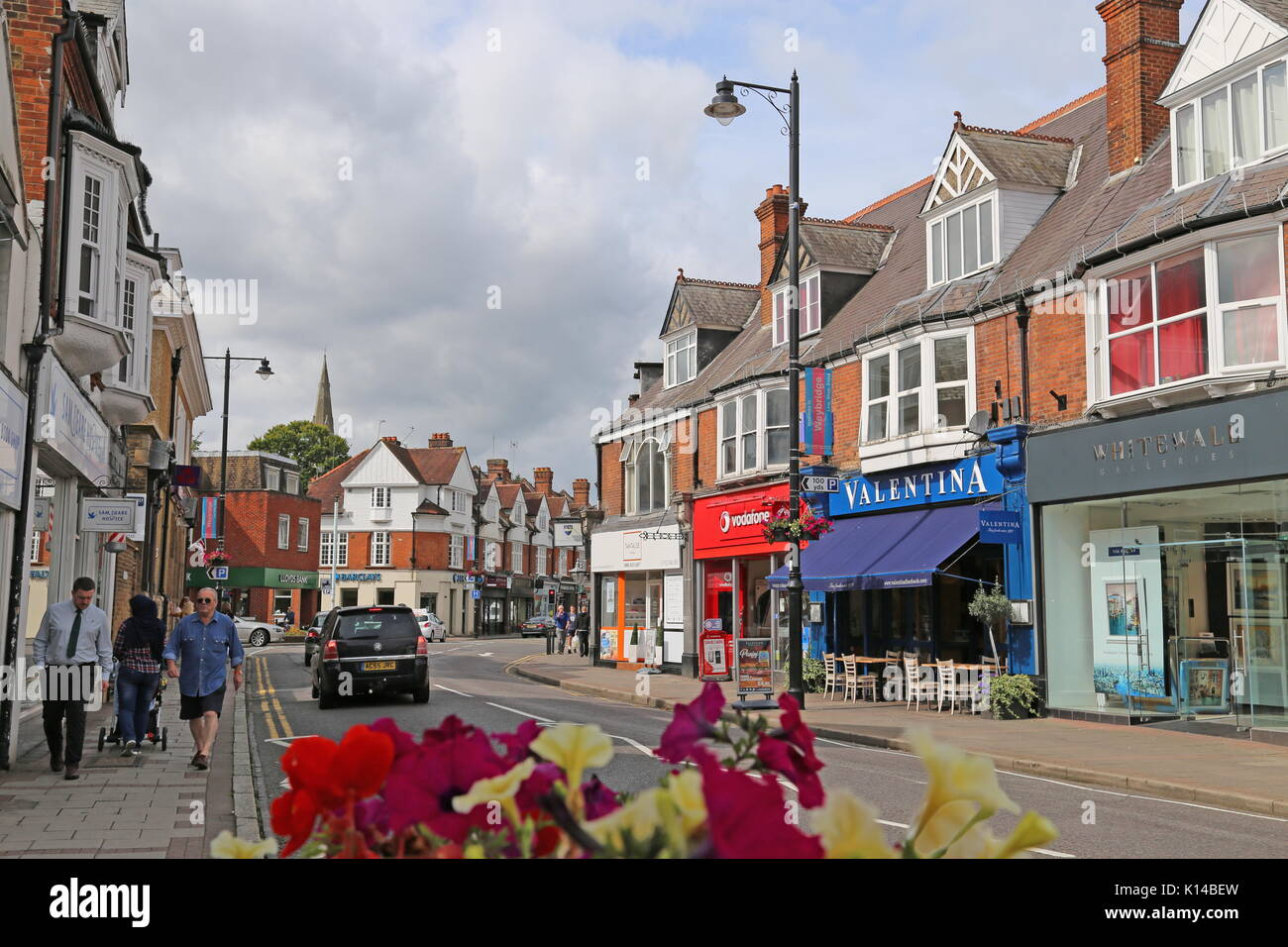 High Street, Weybridge, Surrey, England, Great Britain, United Kingdom, UK, Europe - Stock Image
