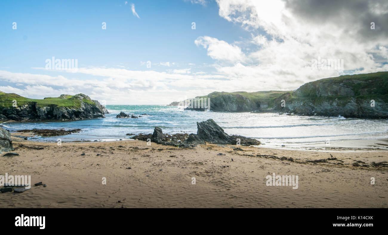 Porth Dfarch beach, one of north wales numerous coastline landmarks - Stock Image