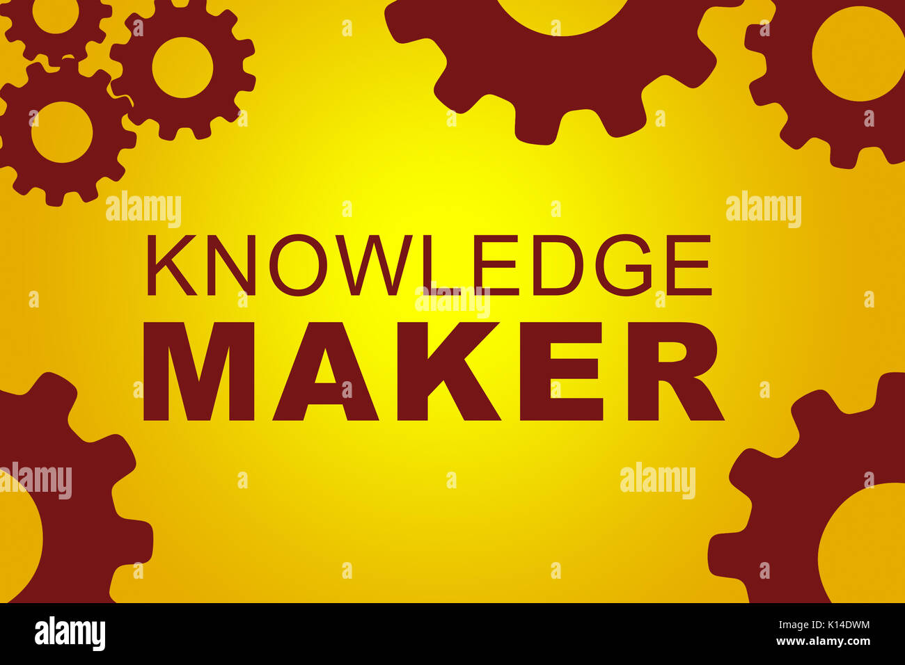 Education Concept Circuit Board School Stock Photos Maker Images Of Knowledge Sign Illustration With Red Gear Wheel Figures On Yellow Background Image