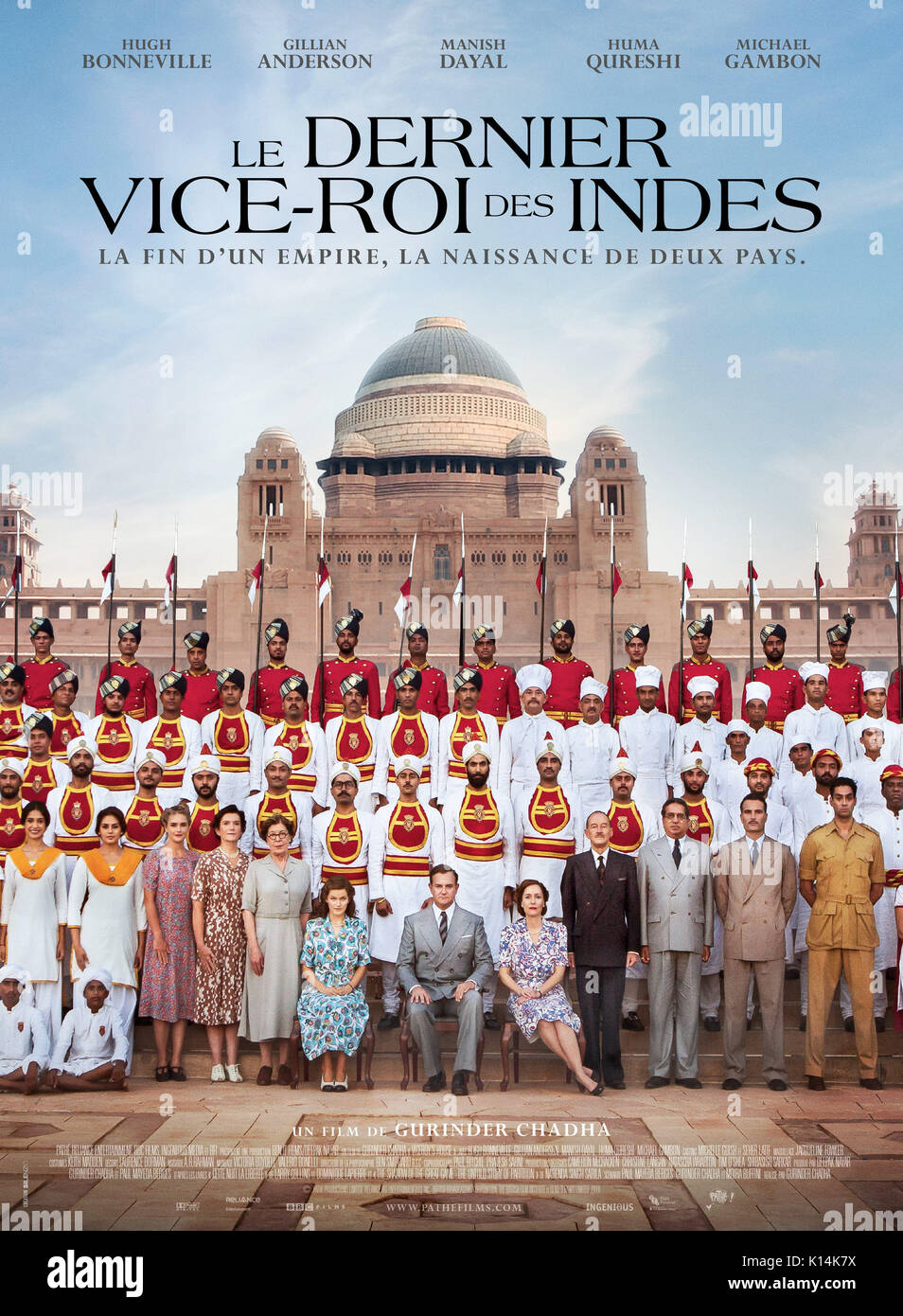 RELEASE DATE: September 1, 2017 TITLE: Viceroy's House STUDIO: BBC Films DIRECTOR: Gurinder Chadha PLOT: The final Viceroy of India, Lord Mountbatten, is tasked with overseeing the transition of British India to independence, but meets with conflict as different sides clash in the face of monumental change. STARRING: Poster Art. (Credit Image: © BBC Films/Entertainment Pictures) - Stock Image