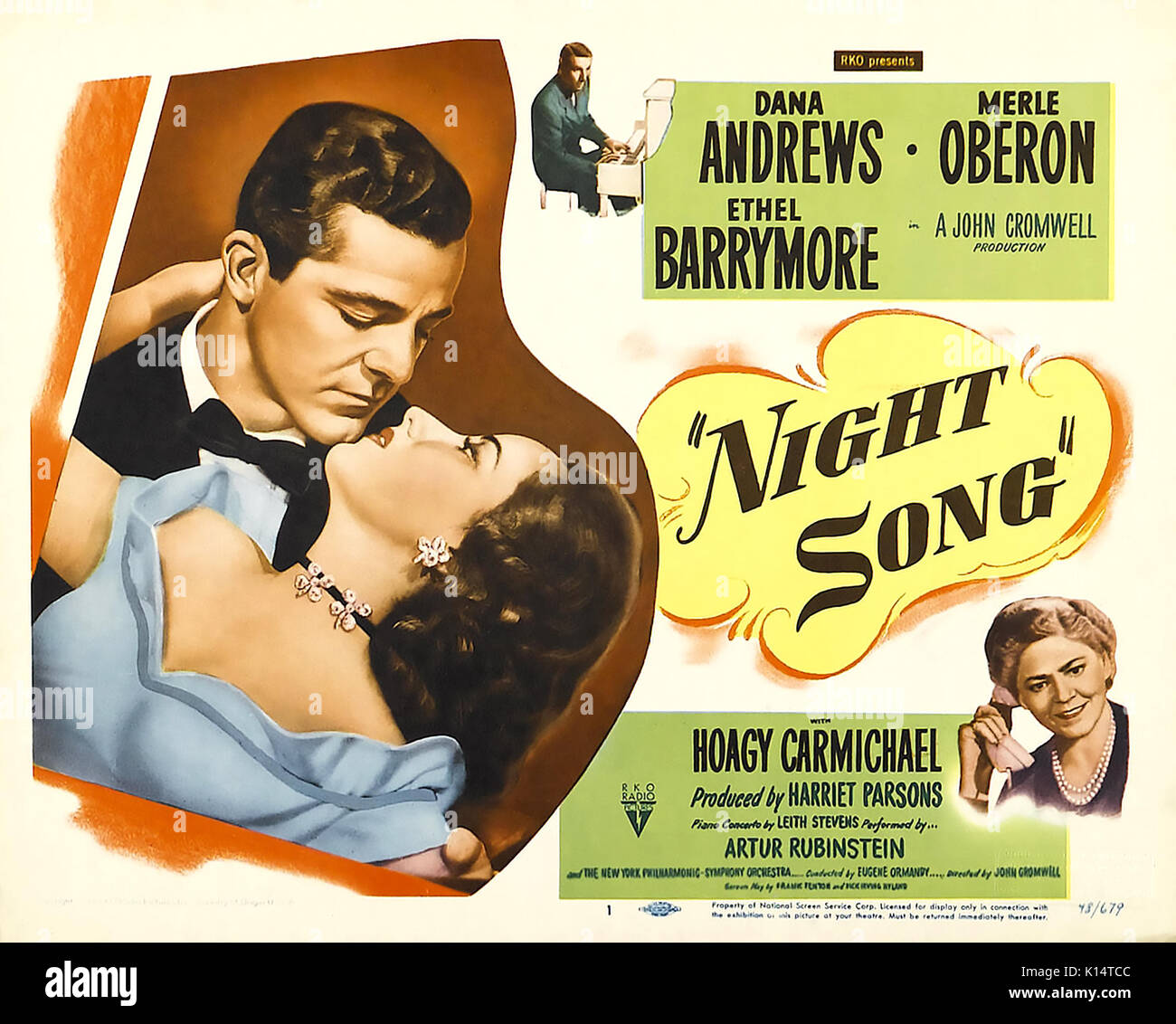 NIGHT SONG 1948 RKO Pictures film with Merle Obernon and Dana Andrews - Stock Image