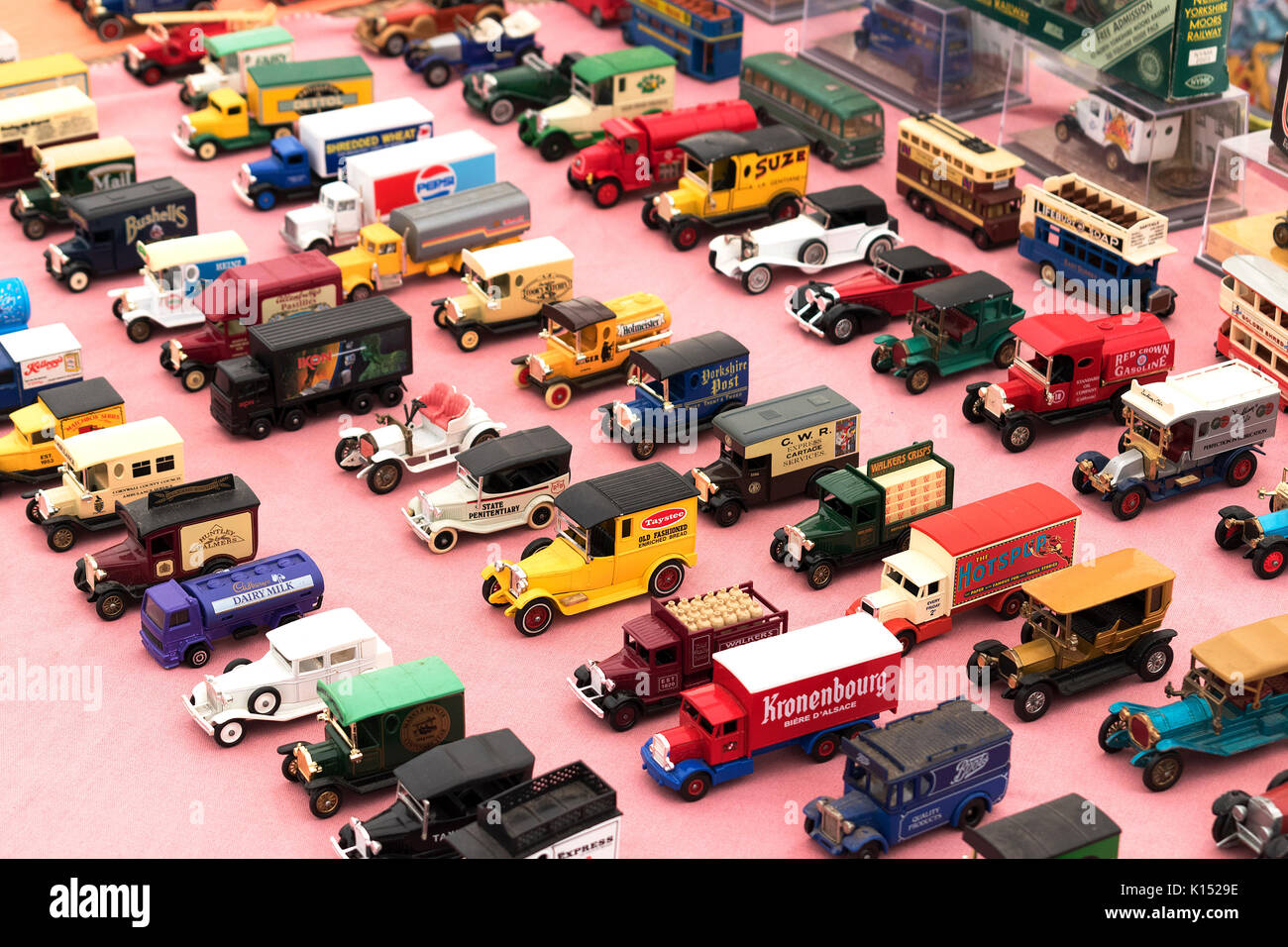 a model toy car collection - Stock Image