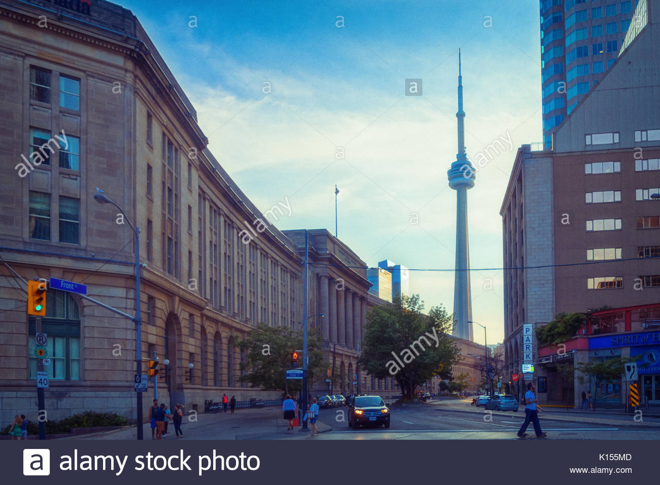 Dominion Public Building (left) is a heritage government building in 1 Front Street West. The landmark is one of the most important examples of Beaux- - Stock Image