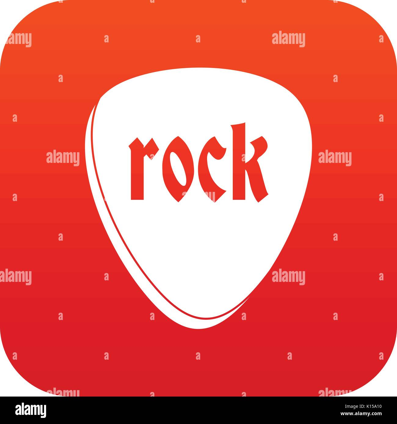 Rock stone icon digital red - Stock Image