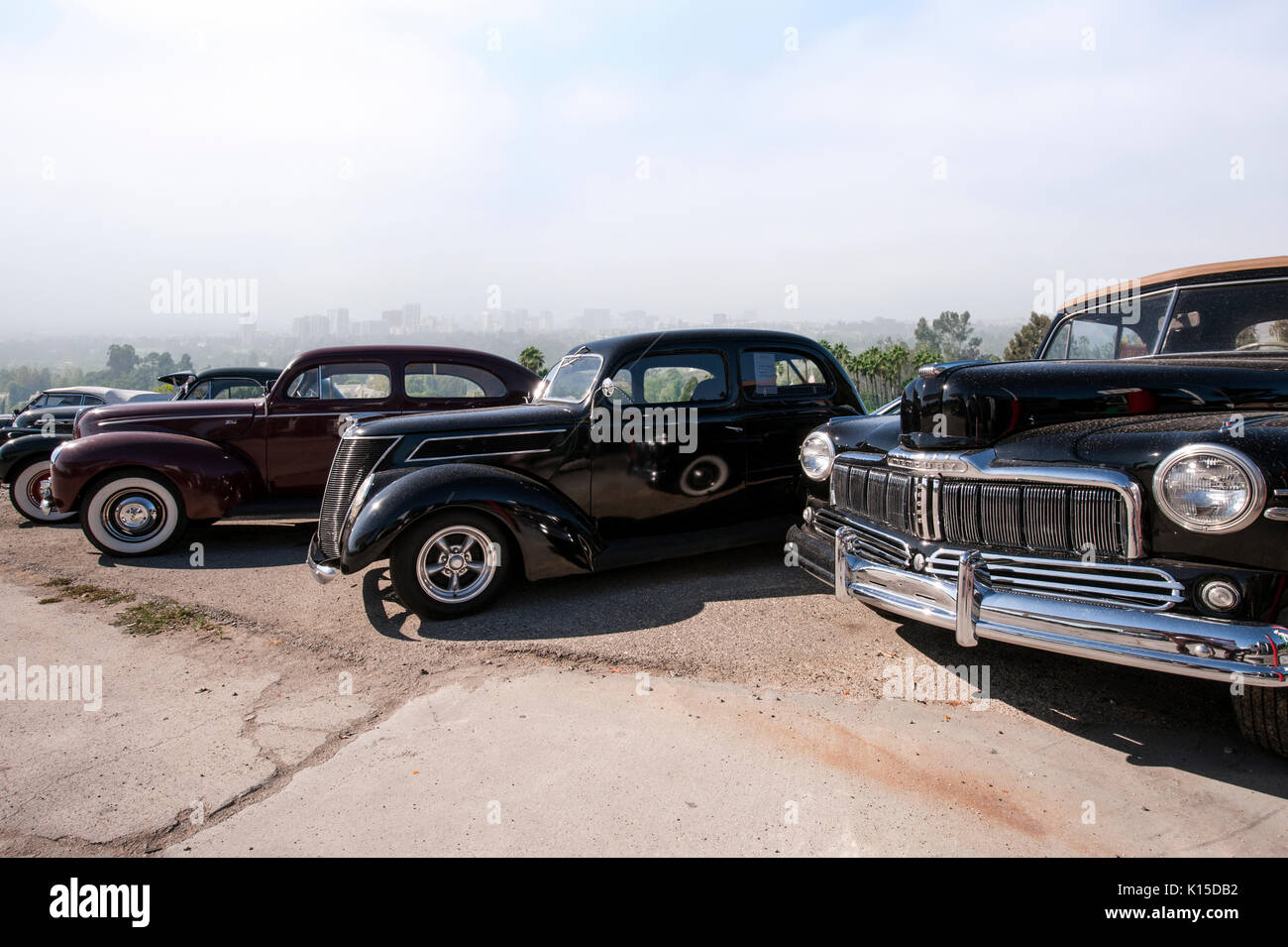 Vintage Automobiles parked in Beullton California - Stock Image