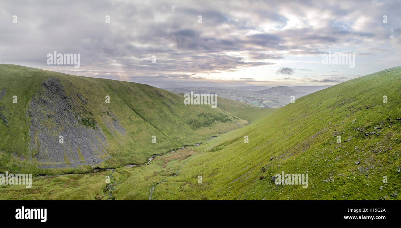 Morning views looking south from a drone over Blencathra Stock Photo