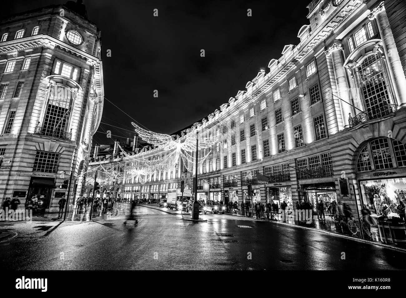 Beautiful Christmas City Lights In London Famous Regent Street Stock Photo Alamy