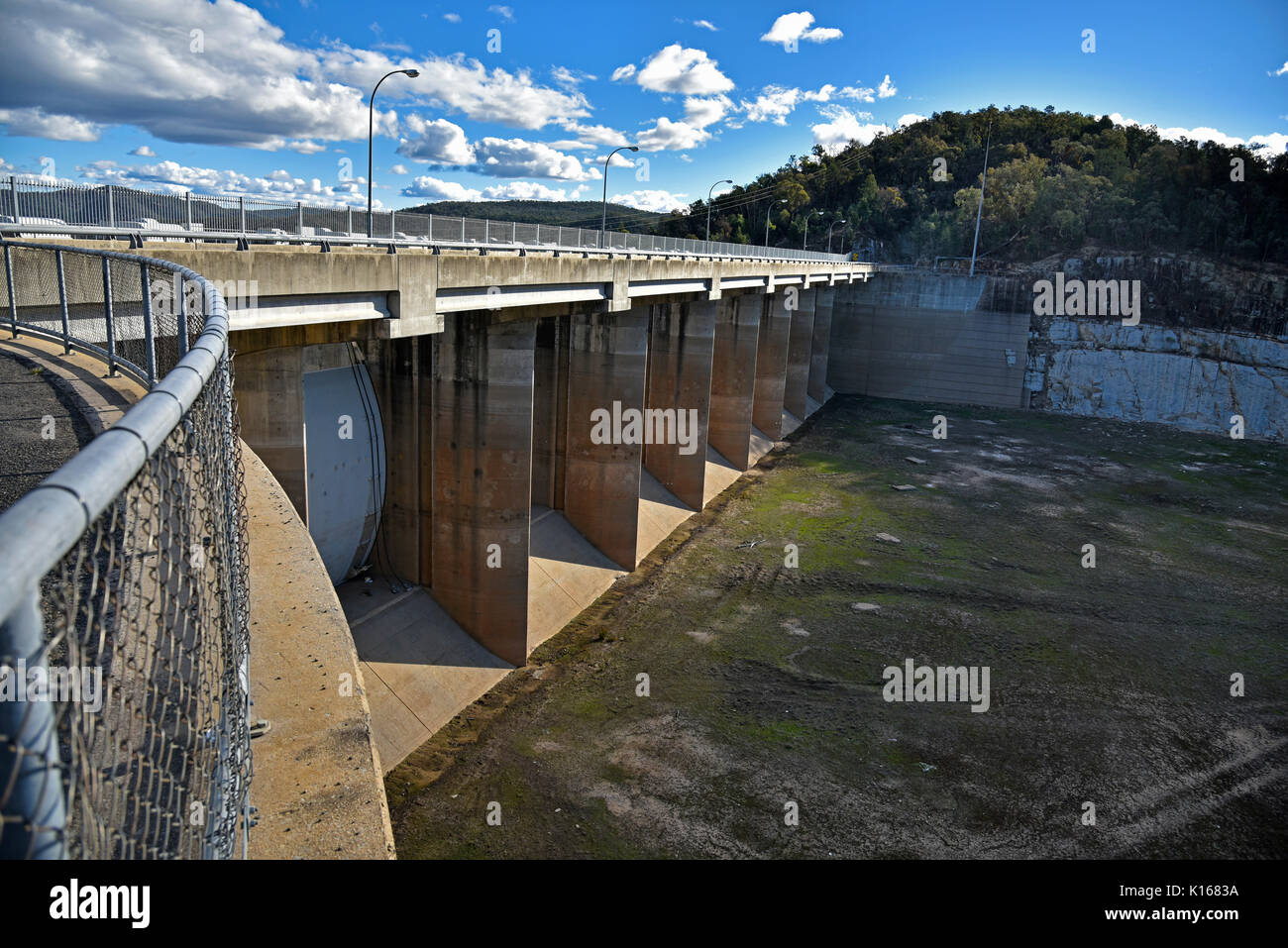 Copeton dam and reservoir, the source of water for Inverell and surrounding districts also offers sport and recreation Stock Photo