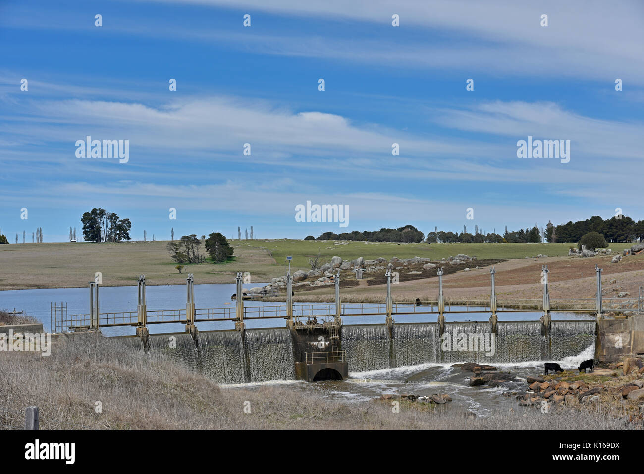Beardy River, a perennial river that is part of the Murray–Darling basin, with it's dam and weir supplies water to Glen Innes in New England, NSW - Stock Image