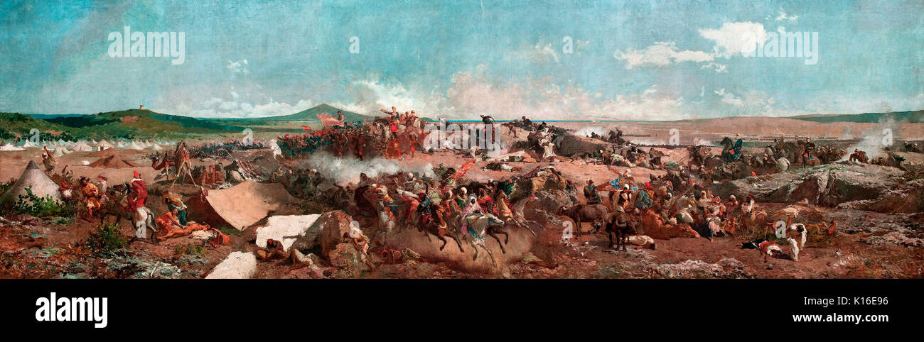 The Battle of Tetouan. Spanish Morocco Campaign Spanish-Moroccan War (1859-1860) Maria Fortuny - Stock Image