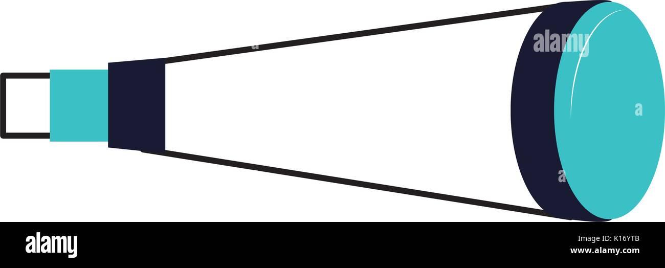 telescope device isolated icon - Stock Vector