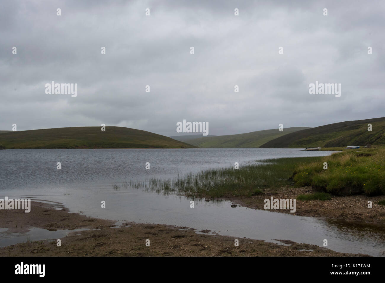 Loch of cliff, Unst - Stock Image