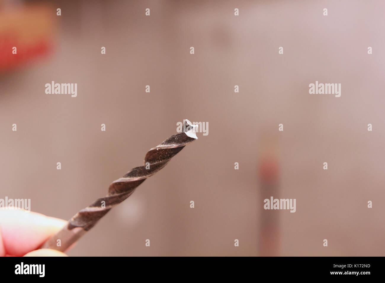 Drill on hand tool - Stock Image