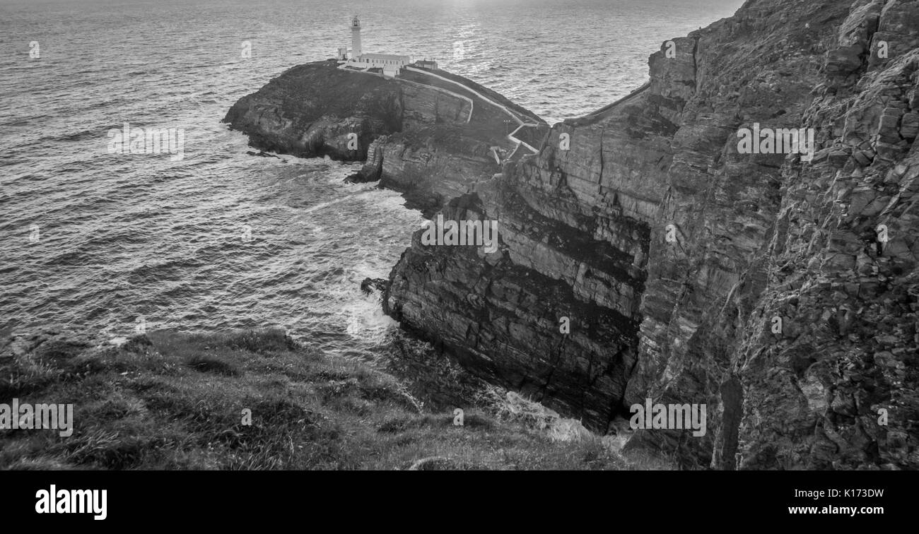 SOUTH STACK LIGHTHOUSE, WALES - Stock Image