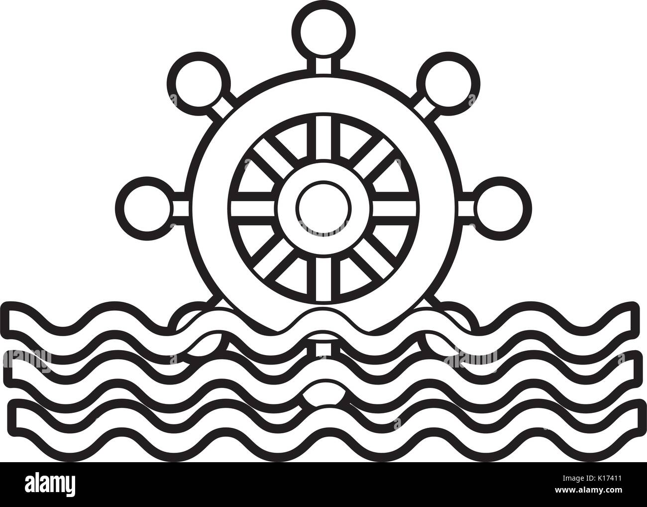 waves stock vector images page 2 alamy Pennant Banner Clear Background boat timon with sea waves stock vector