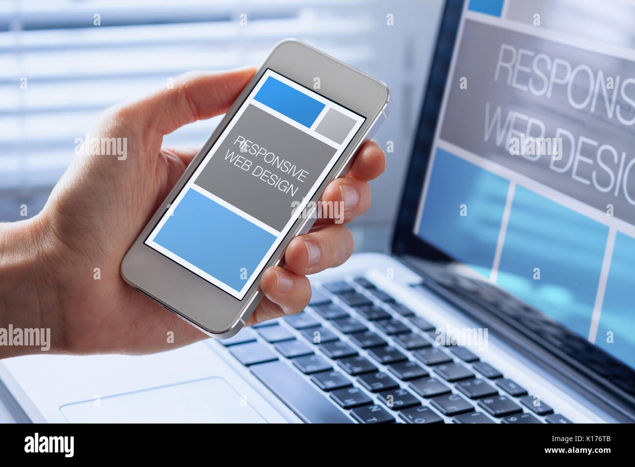 Designer Sketching Responsive Web Design Website Close Up Of Hand Stock Photo Alamy