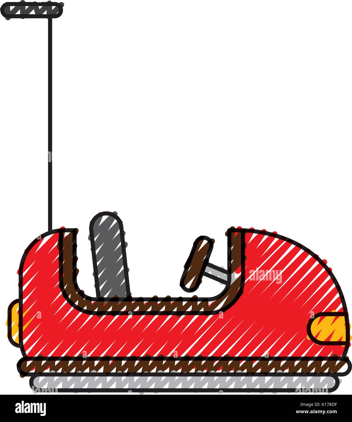 bumper cars carnival game - Stock Vector