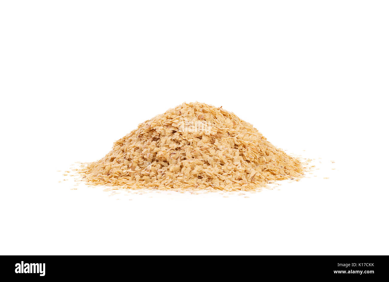 Wheat germ, the highly nutritious heart of the wheat kernel. isolated - Stock Image