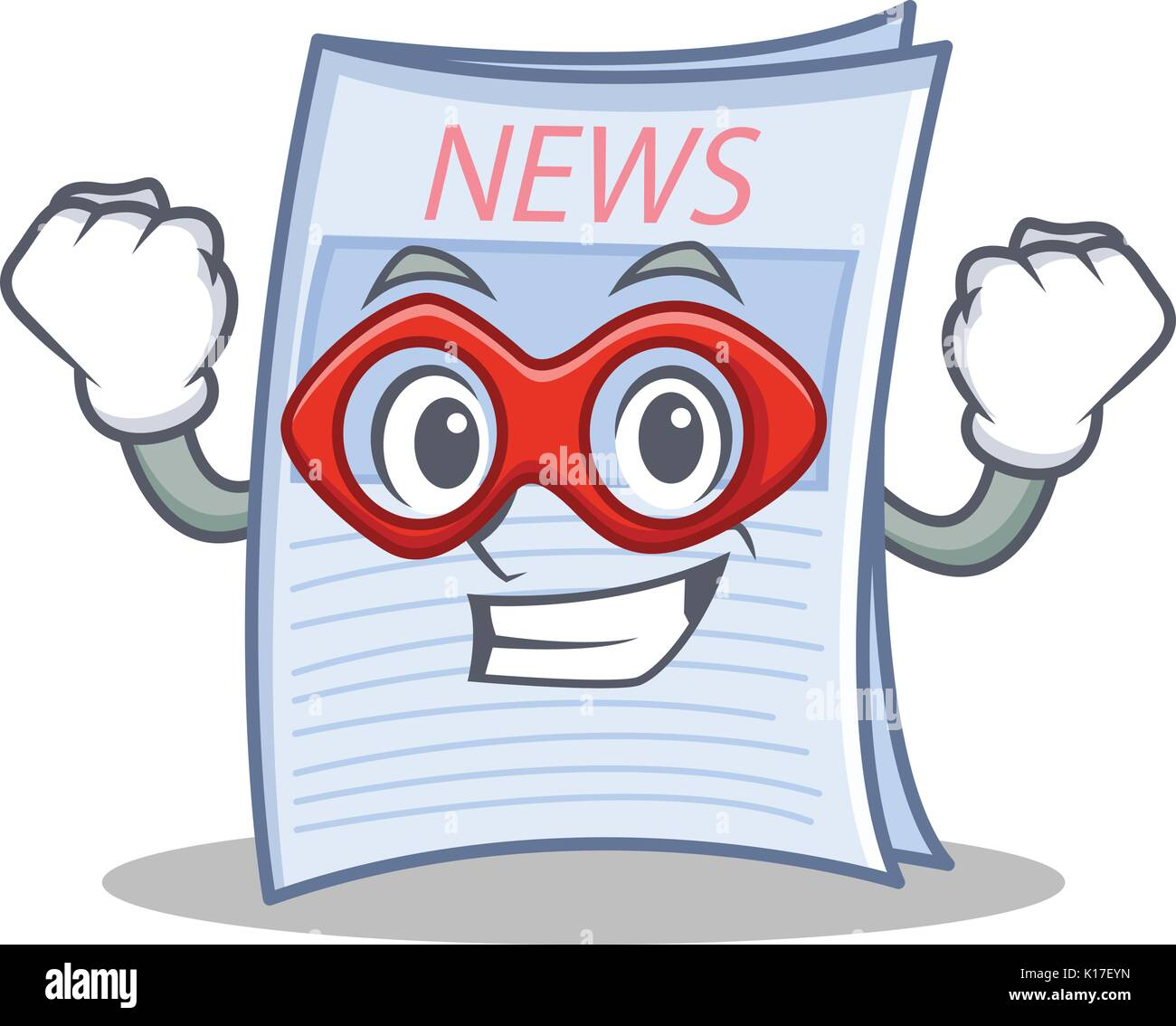 Super hero newspaper character cartoon style Stock Vector