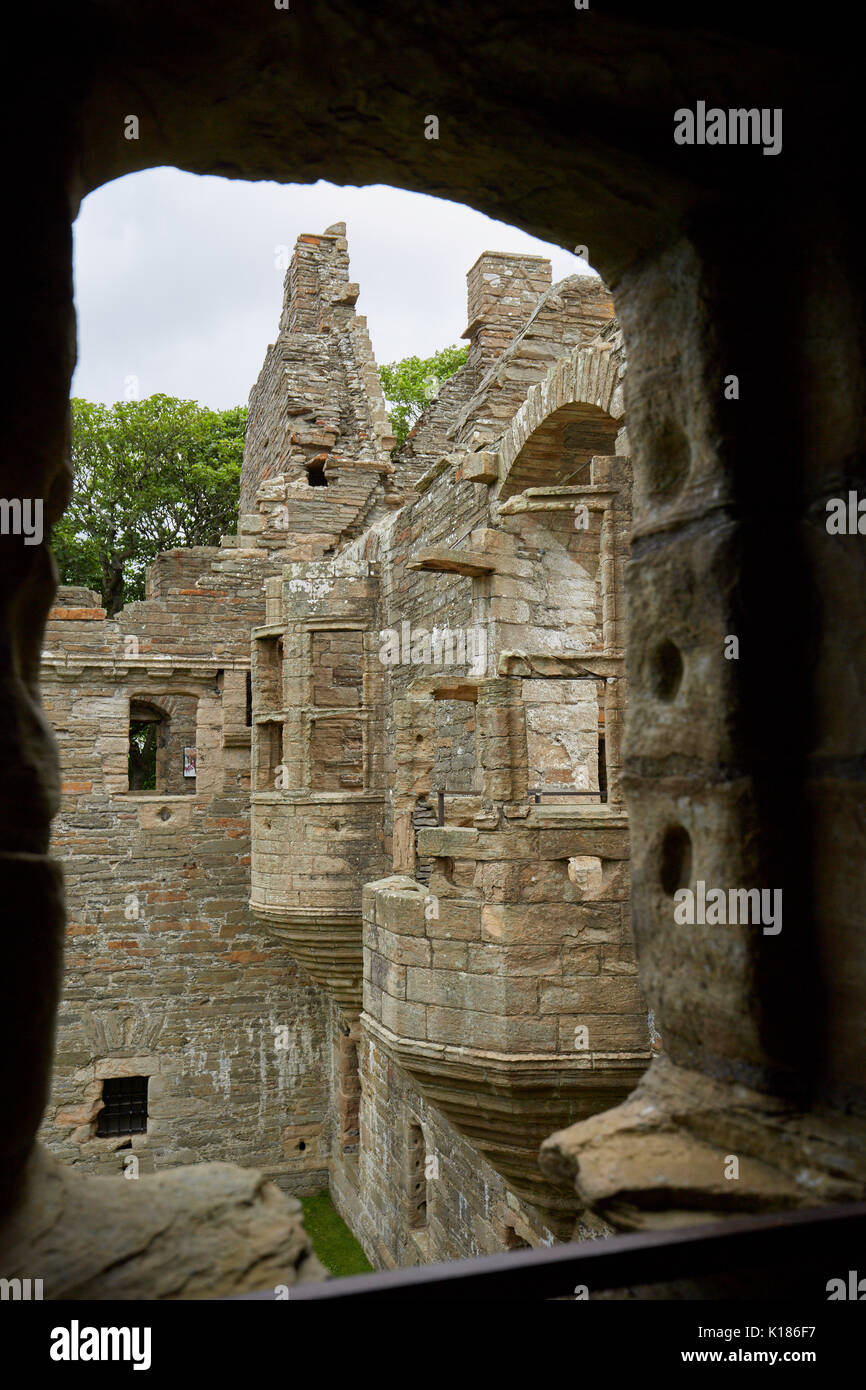 Earl's Palace in Kirkwall on Orkney, Scotland - Stock Image