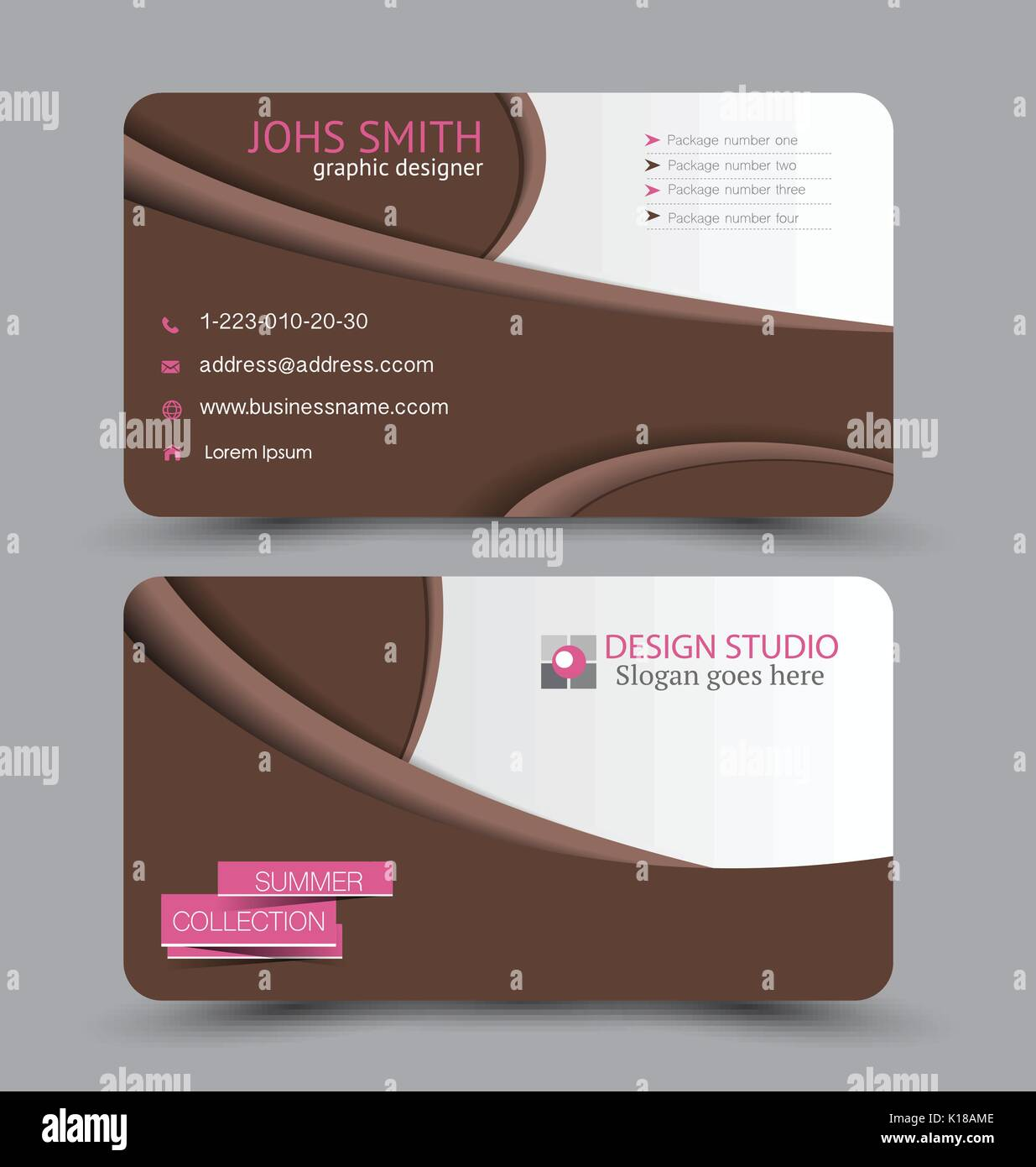 Business card. Design set template for company corporate style Stock ...