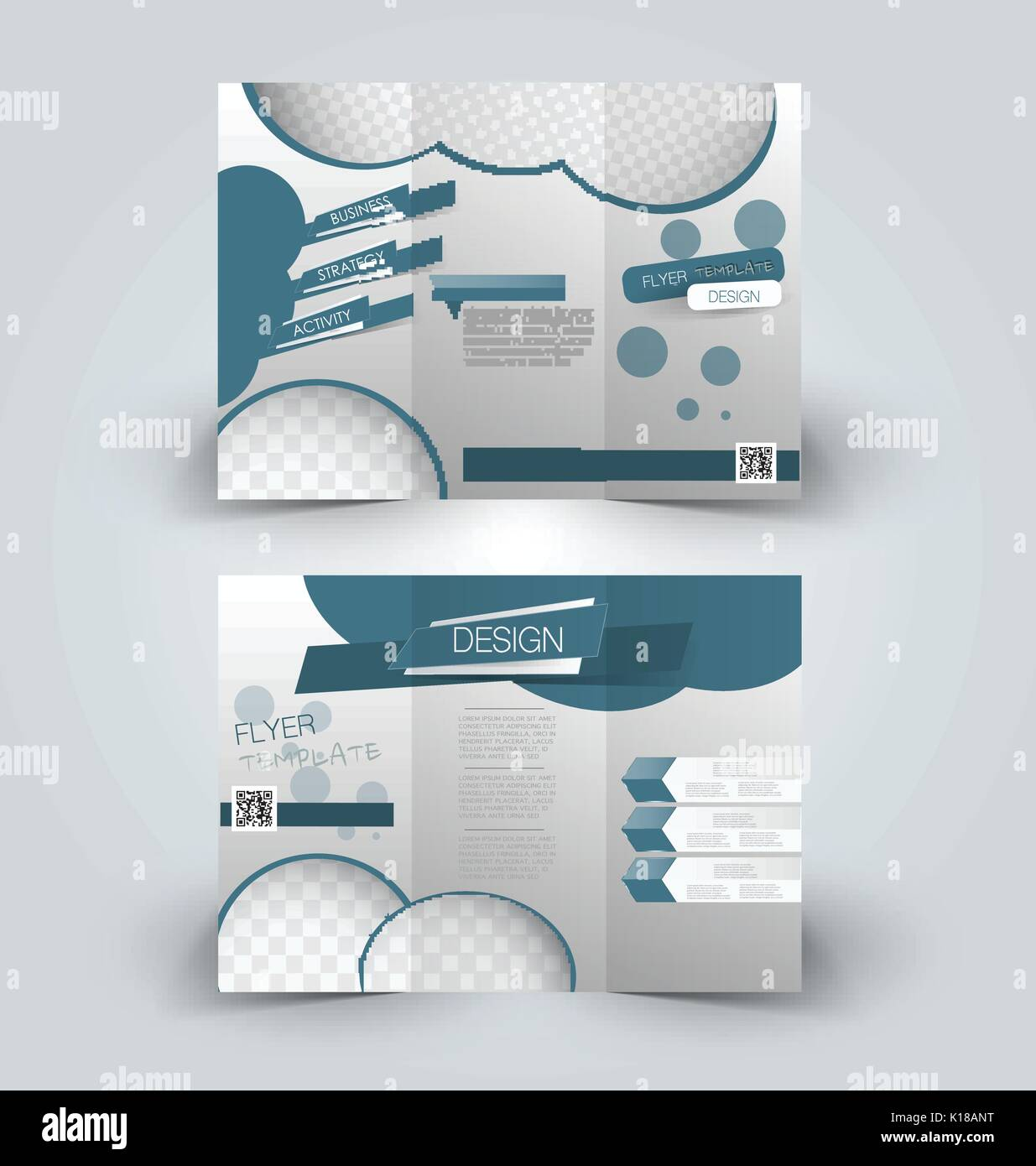 Trifold business brochure leaflet template for business education trifold business brochure leaflet template for business education presentation advertisement blue color wajeb Choice Image