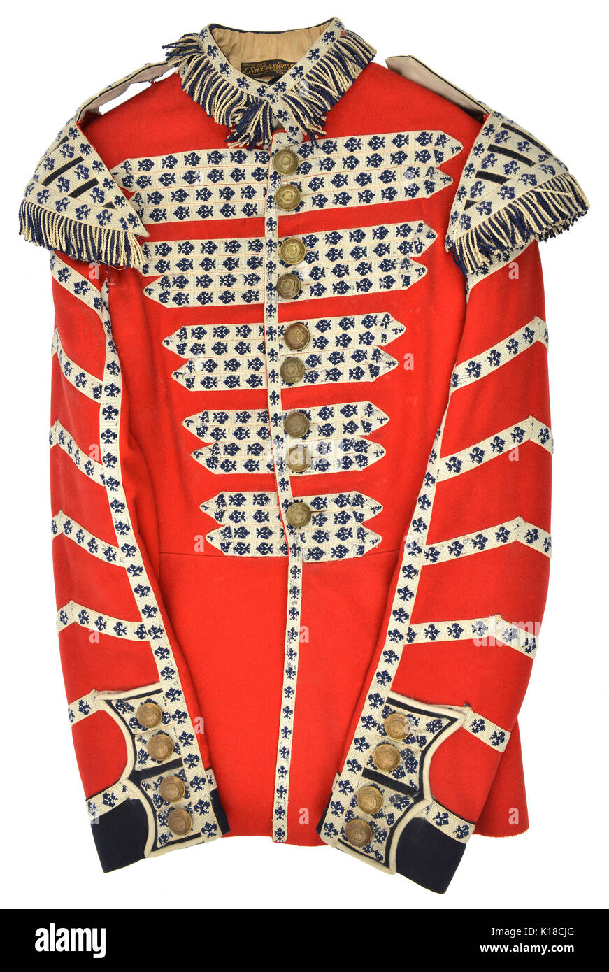 Coldstream Guards Drummers tunic Stock Photo