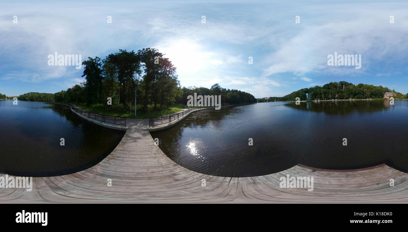 360 VR panorama of the lake - Stock Image