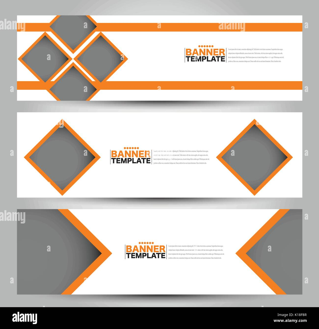 Banner Template Abstract Background For Design Business Stock Vector Image Art Alamy